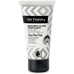 Happy mask - maschera silver purificante - gelso bianco